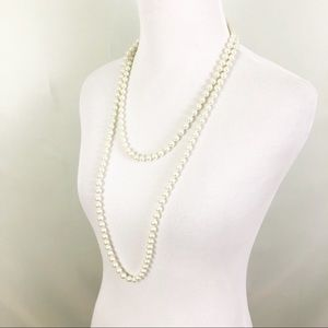 Jewelry - Long White Beaded Necklace